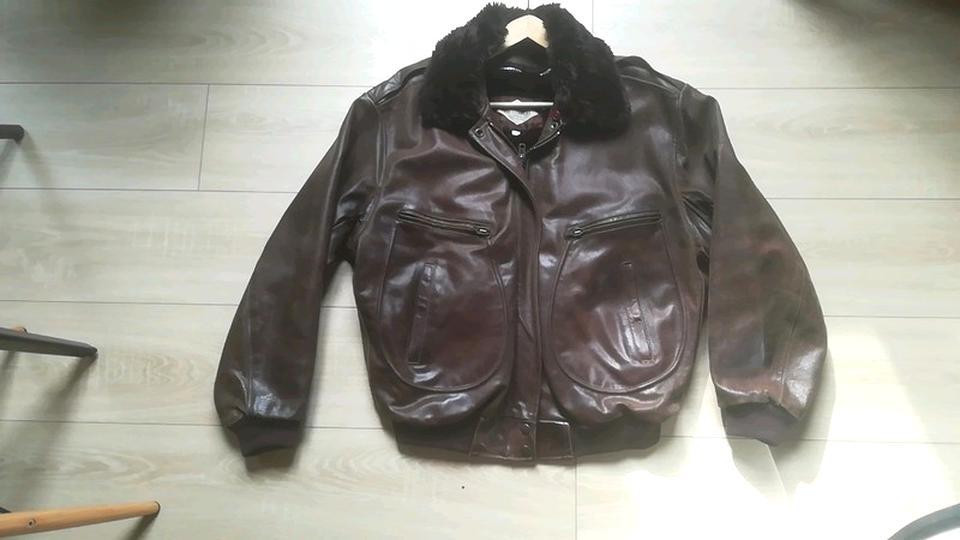 veste cuir vintage homme occasion