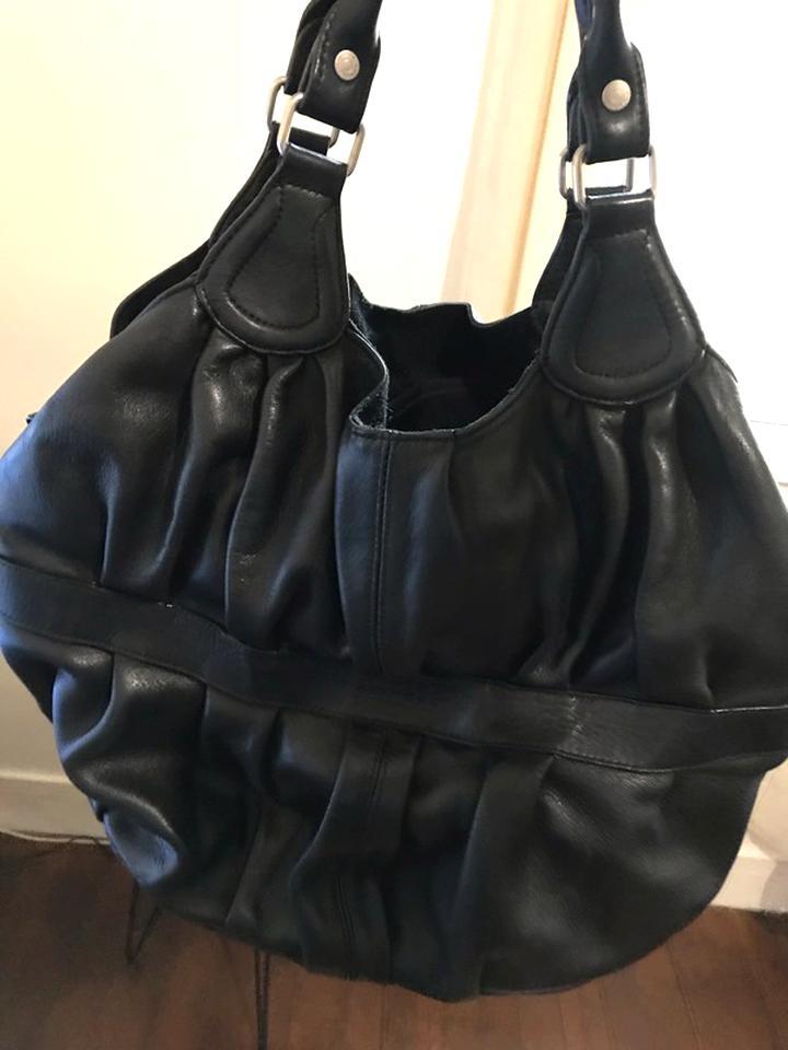 sac cuir noir sabrina d'occasion