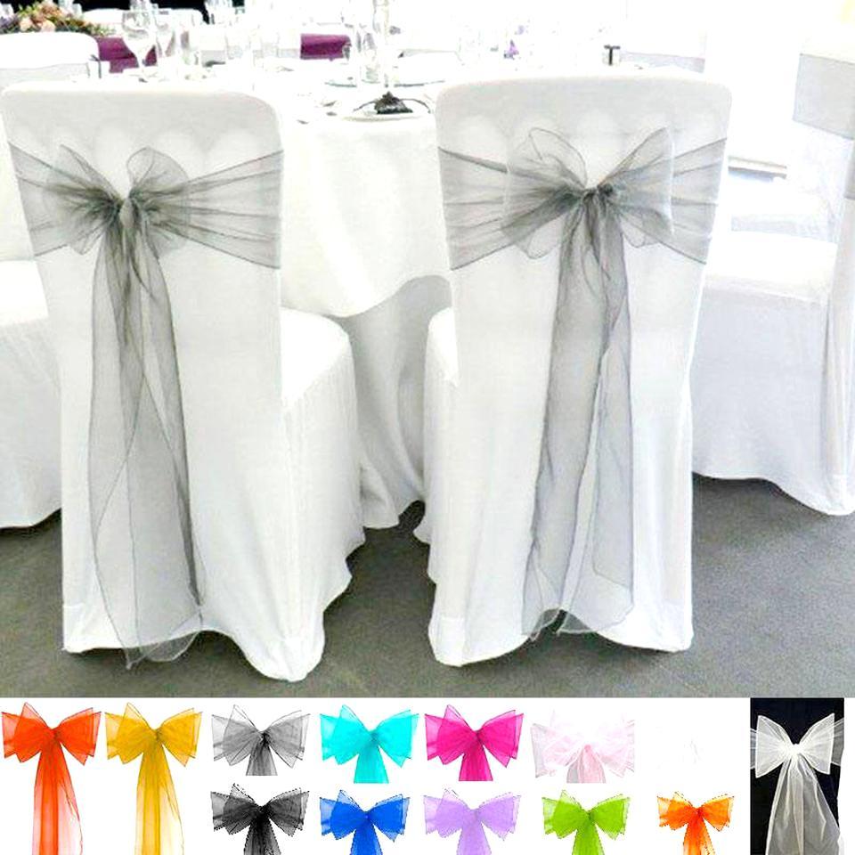 Organza Noeud Chaise CHASSIS pour et pour les mariages et les f/êtes de mariage Organza Noeud Chaise 50 Rouge