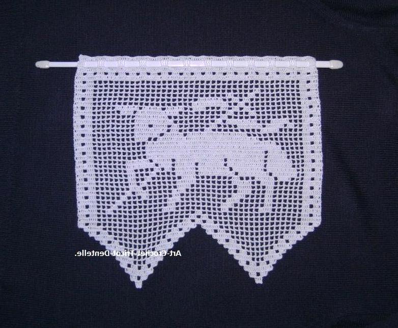 rideau crochet d'occasion