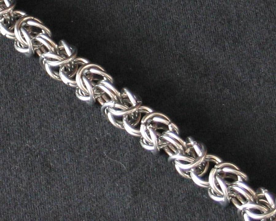 """50 /% sur bracelet argent mailles /""""Royale/"""" de 6 mm Envoi de France immédiat"""