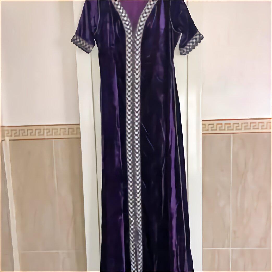 Fionalissa Femmes Velours Tricoter Rouge Brode a Long Caftan//Robe de Chambre Size: M//L//XL//XXL