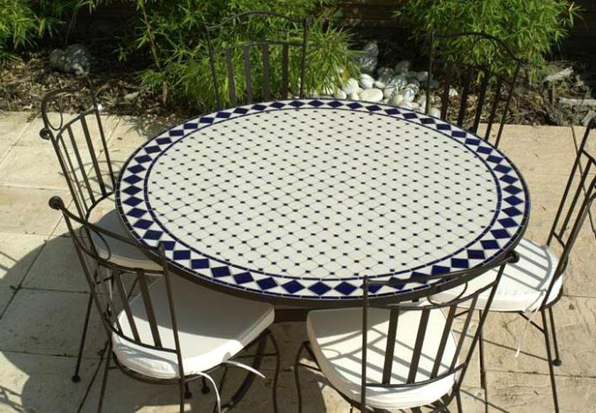 Table Fer Forge Mosaique Occasion.Table Fer Mosaique