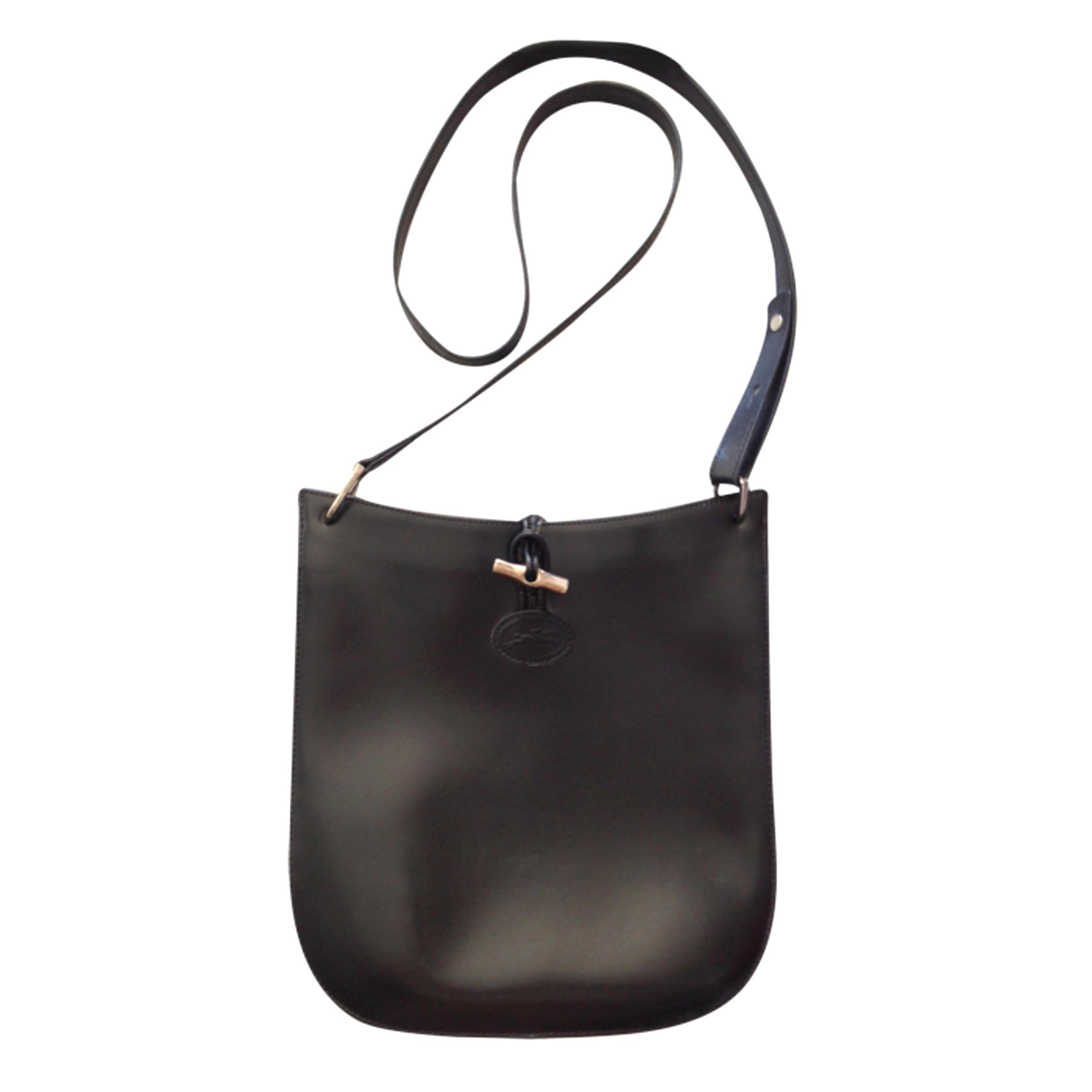 sac longchamp bandouliere cuir noir d'occasion
