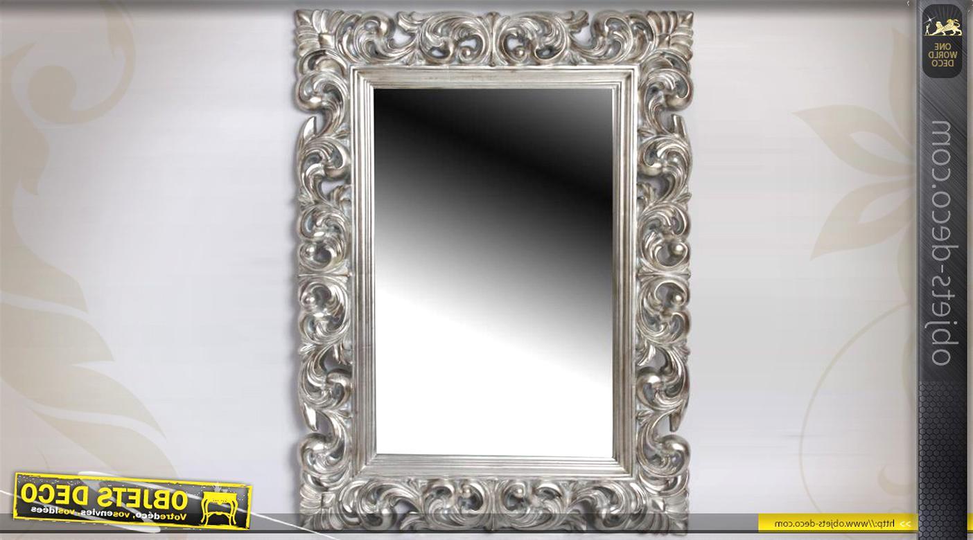 Miroir Mural Argente D Occasion Plus Que 4 A 60