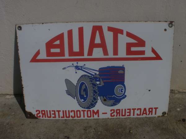 plaque emaillee ancienne tracteur d'occasion