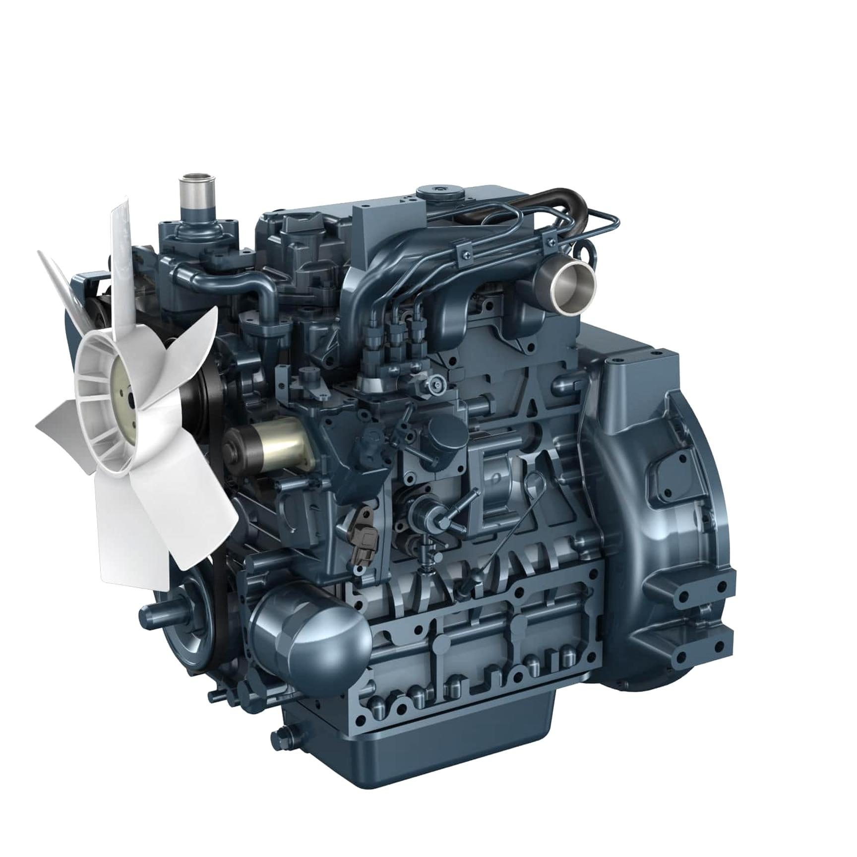 moteur kubota 3 cylindres diesel d'occasion
