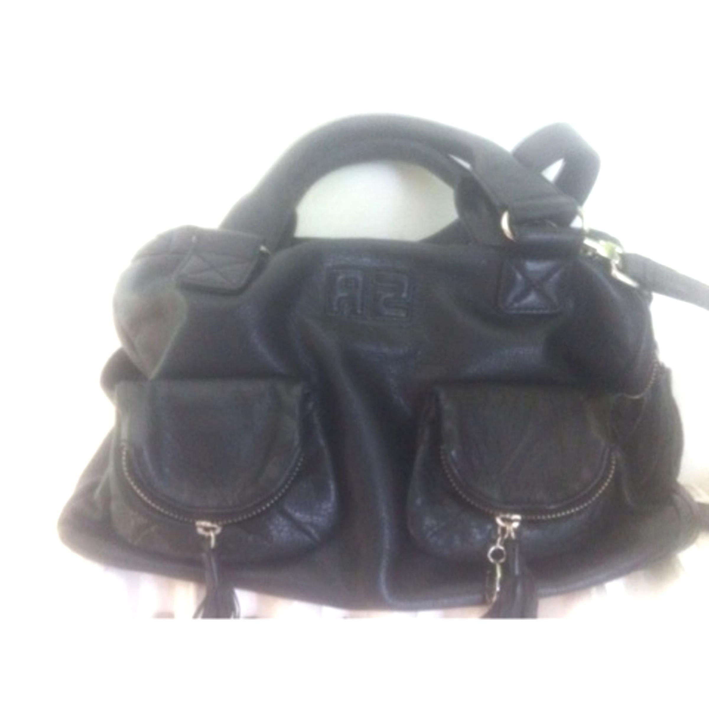 sac cuir noir sonia rykiel d'occasion