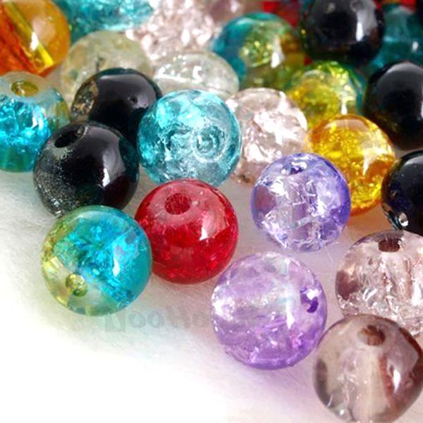 100X Perles en Verre Venetian Glass Beads Vintage Rétro Dorées