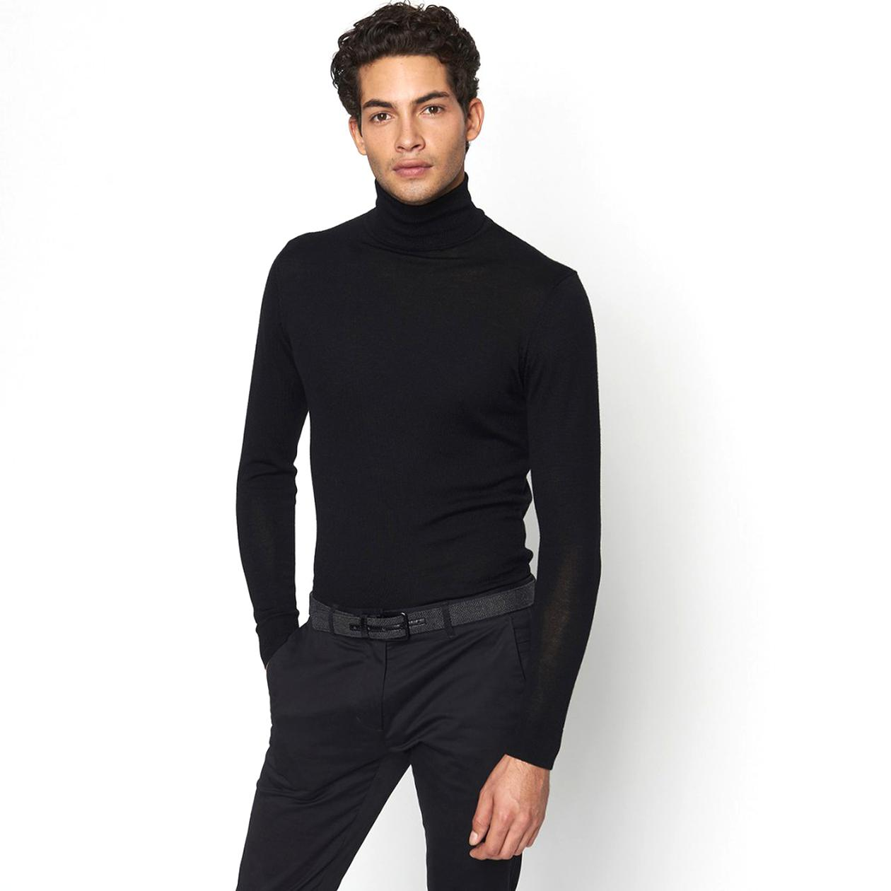 Pull Col Roule Homme d'occasion