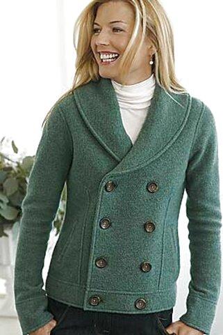 veste femme laine bouillie d'occasion