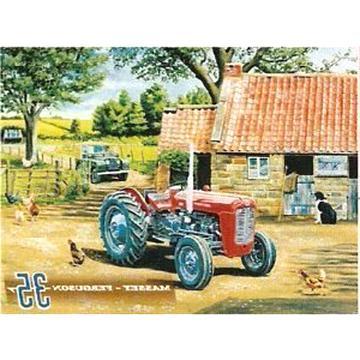 Inga Plaque en m/étal Vintage Massey Ferguson 65 Mark II Tracteur Farmer Farming Deco 20 x 30 cm