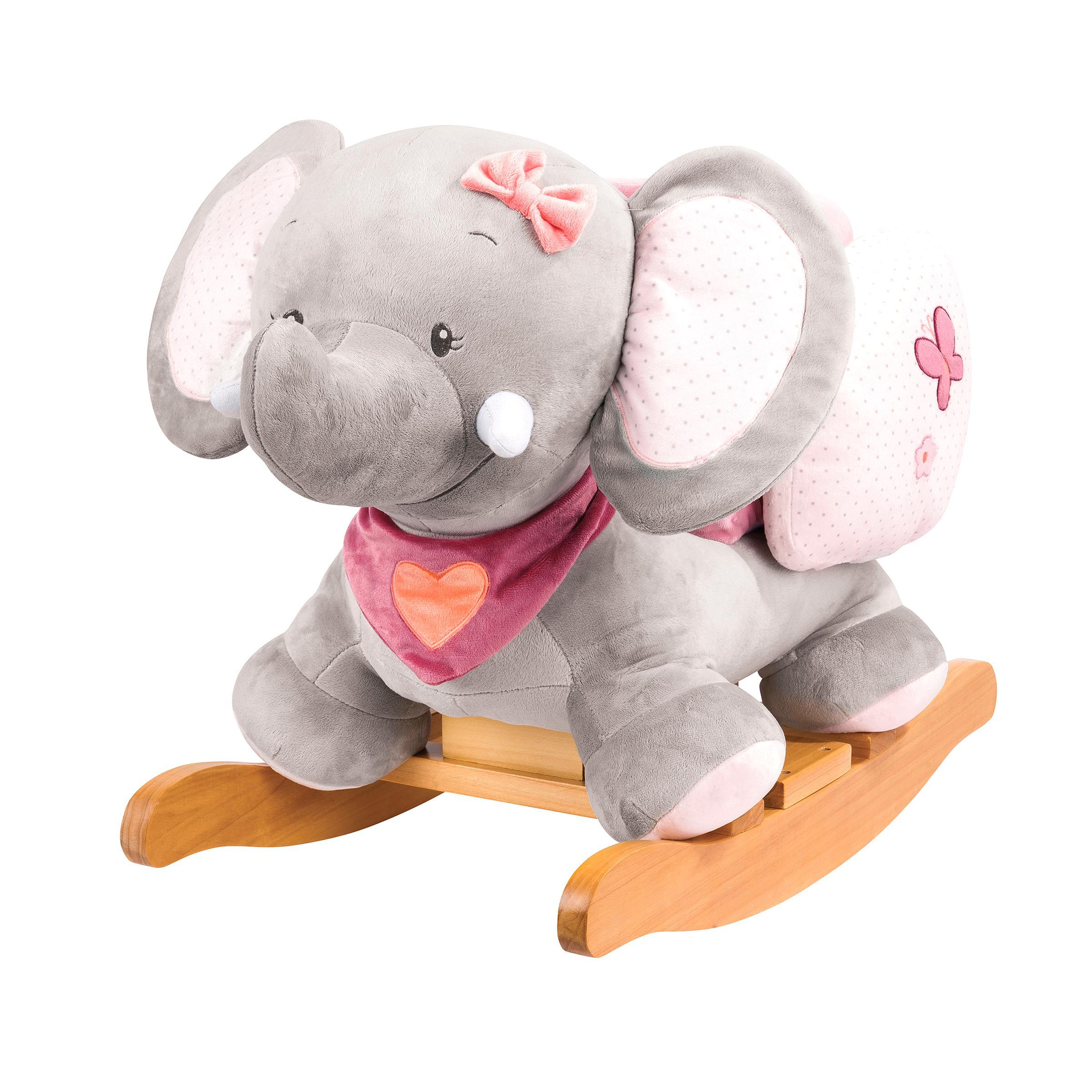 NEUF Doudou plat éléphant Charlotte rose bleu coeur fleurs NATTOU