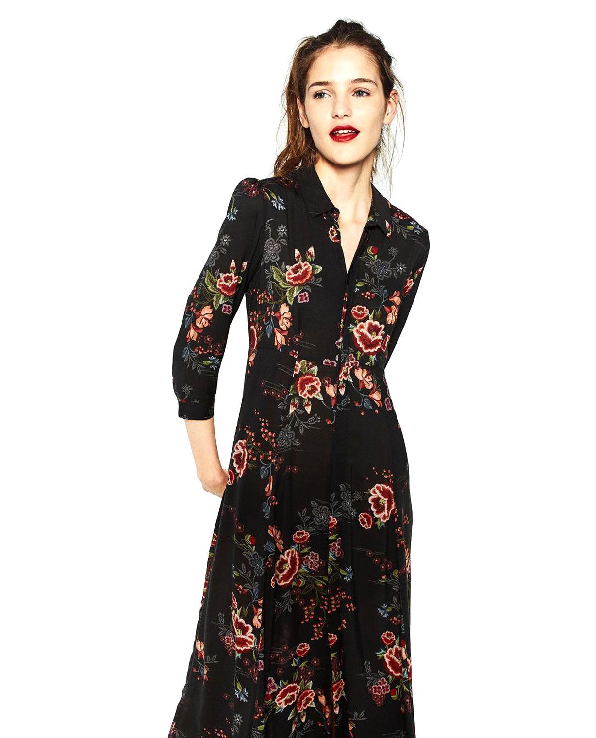 Robe longue crochet dentelle Zara TM 42