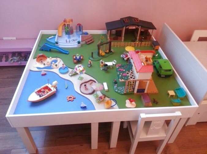 playmobil table basse d'occasion