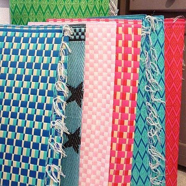 tapis tresse plastique d'occasion