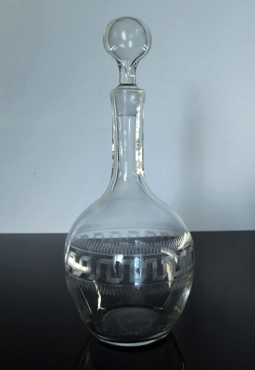 Carafe Cristal Gravee Ancien d'occasion