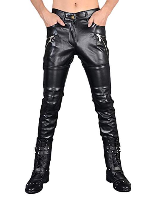 plus récent 4a678 722be pantalon cuir homme