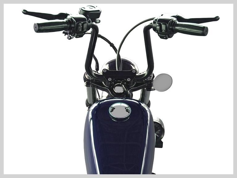 AAlamor 7//8 Pouce 22Mm Moto Drag Z-Bar Guidon Pullback pour Suzuki//Honda CG//Harley Touring Noir