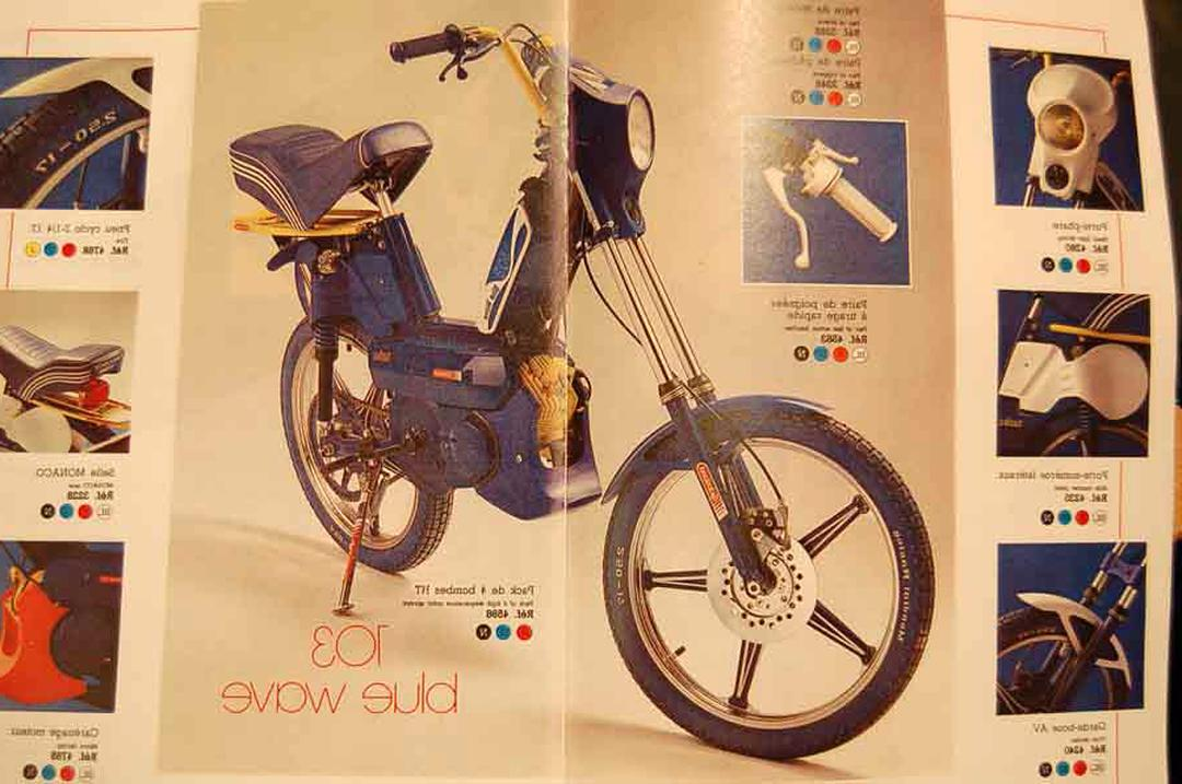 Peugeot Cyclo scooter moto vogue 103 country XPLC prospectus catalogue brochure