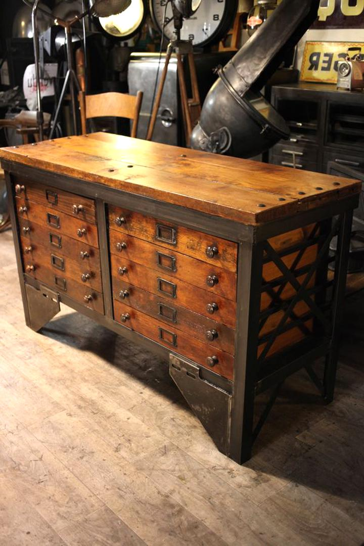 Meuble Industriel Brocante D Occasion