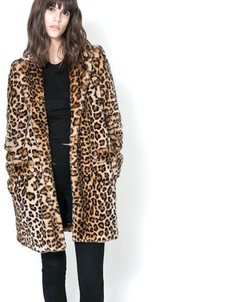 50-70% de réduction nouvelles promotions expédition gratuite manteau leopard zara