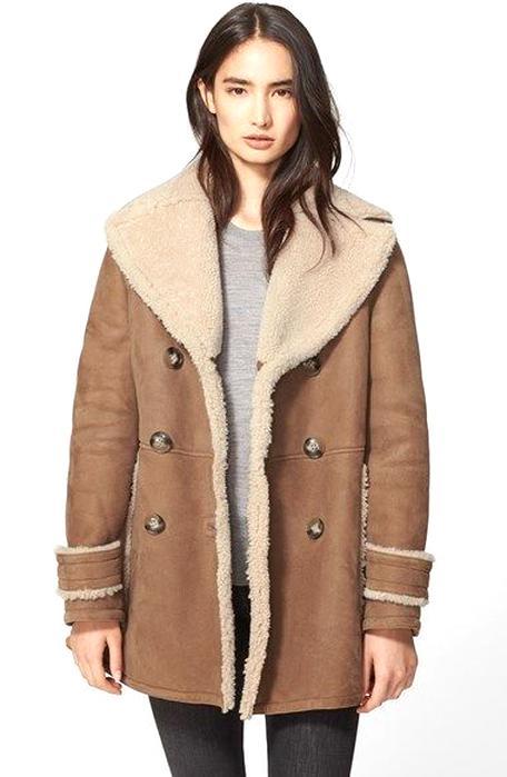 Manteau en laine camel femme zara