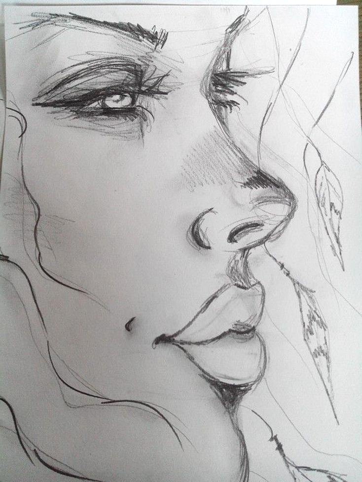 Dessin Femme Crayon D Occasion