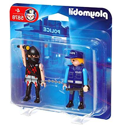 K2113 POLICE PLAYMOBIL Bandit Voleur Gilet Noir /& Casquette 3161