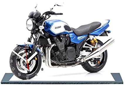 YAMAHA 1300 XJR ROBERTS EDITION EN HORLOGE MINIATURE-13 MOTO