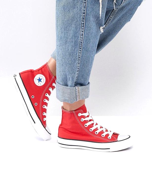 basket converse rouge