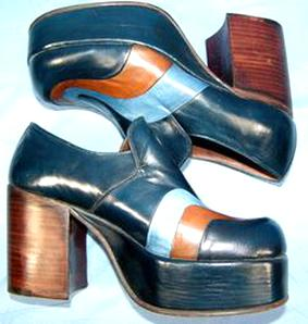 chaussures vintage 70 d'occasion