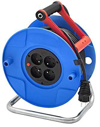 Rallonge Enrouleur Prolongateur Electrique 25 M 4 Prises 16 A section 3G1,5 mm²