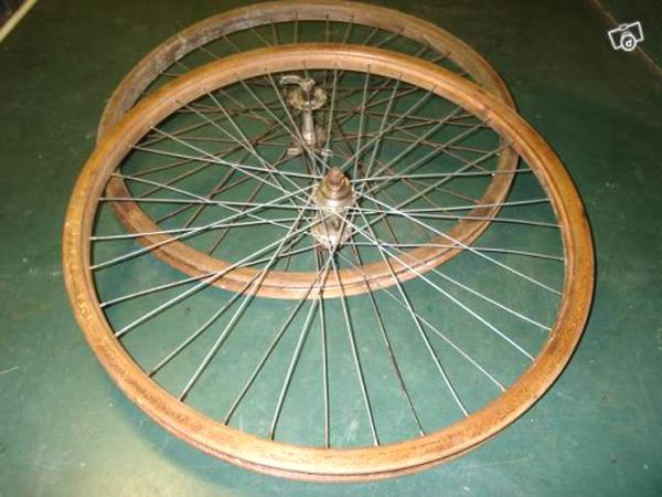 roue bois velo d'occasion