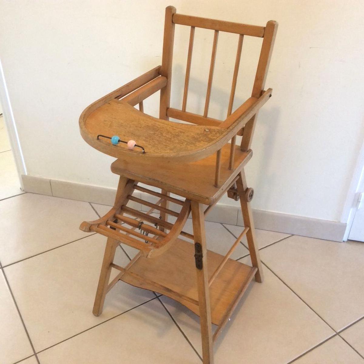 PHOTO 240616 ancienne rempailleur chaise haute b
