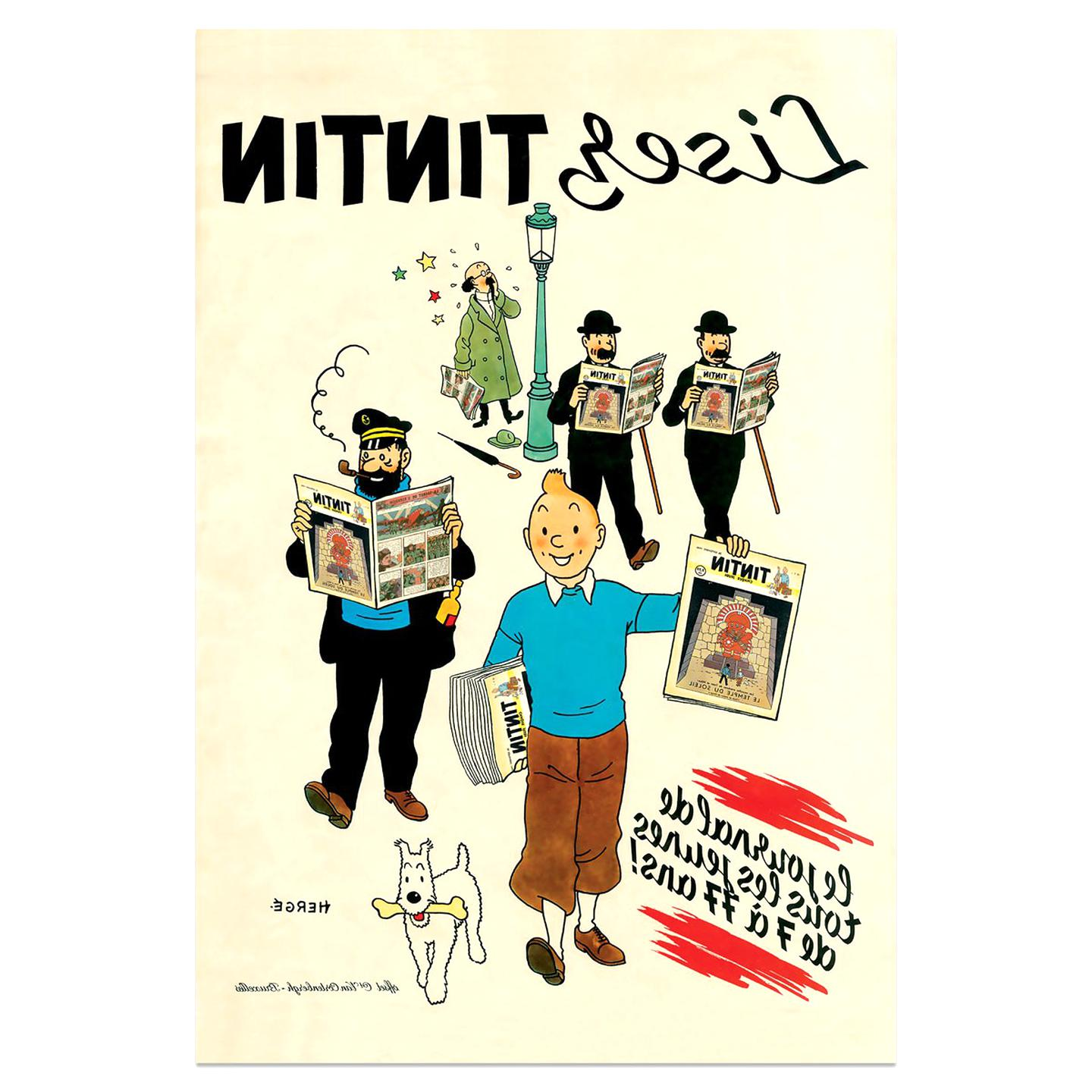affiche tintin d'occasion