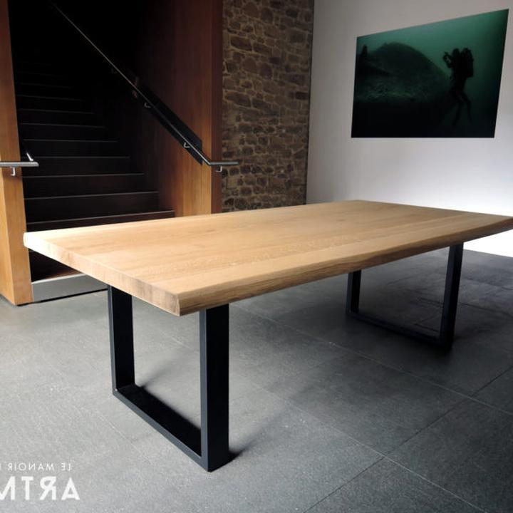 Table Bois Pied Metal d\'occasion   Plus que 4 à -70%