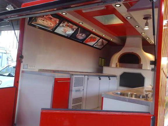 camion pizza four bois d'occasion