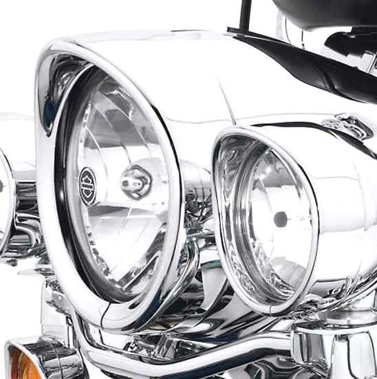 Phare Universel Phare Vintage Moto Phare 3 Coins H4 Lampe Pour Harley Honda Chopper Sportster Softail Personnalis/é CG Lentille ChromTransprent