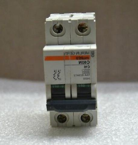 1 disjoncteur Merlin Gerin 6A Ampéres 2P  réf 24200