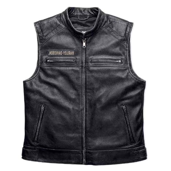 gilet cuir harley d'occasion