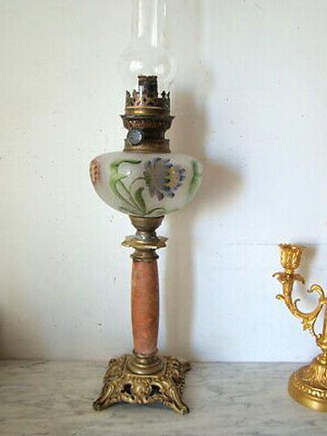 Lampe A Petrole 1900 Art Nouveau d'occasion