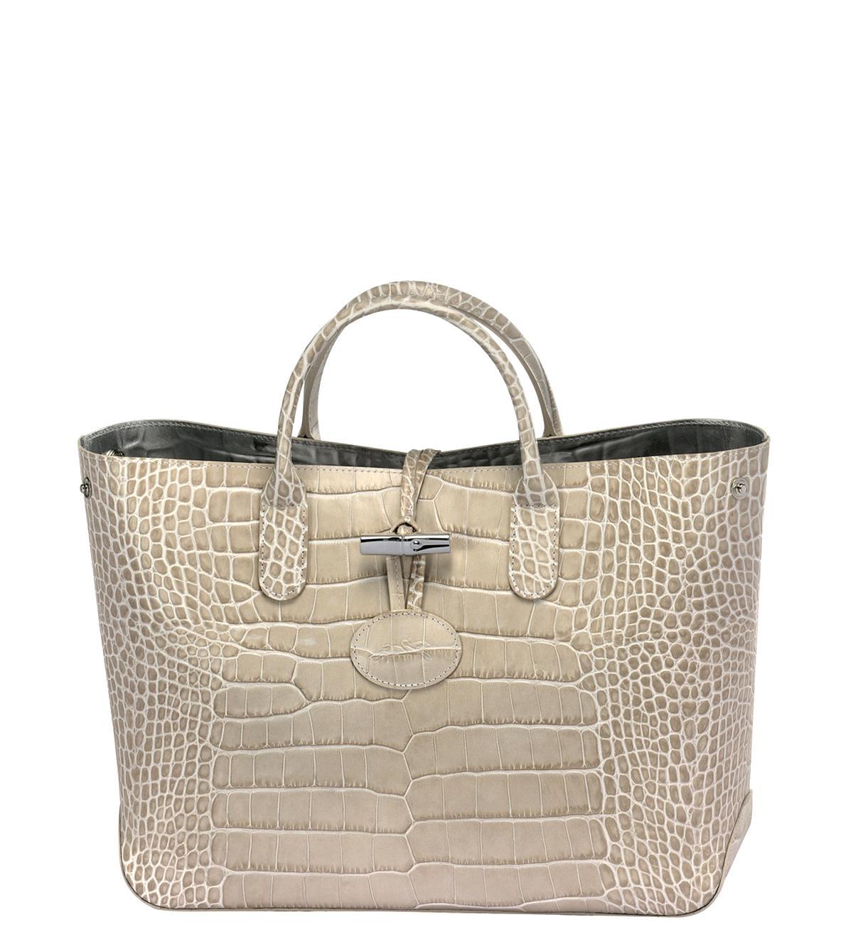 sac roseau longchamp croco