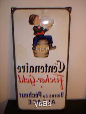 biere fischer plaque emaillee d'occasion