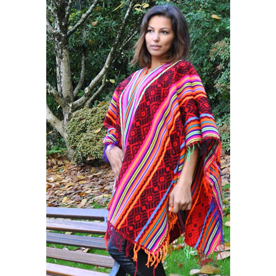 poncho peruvien d'occasion