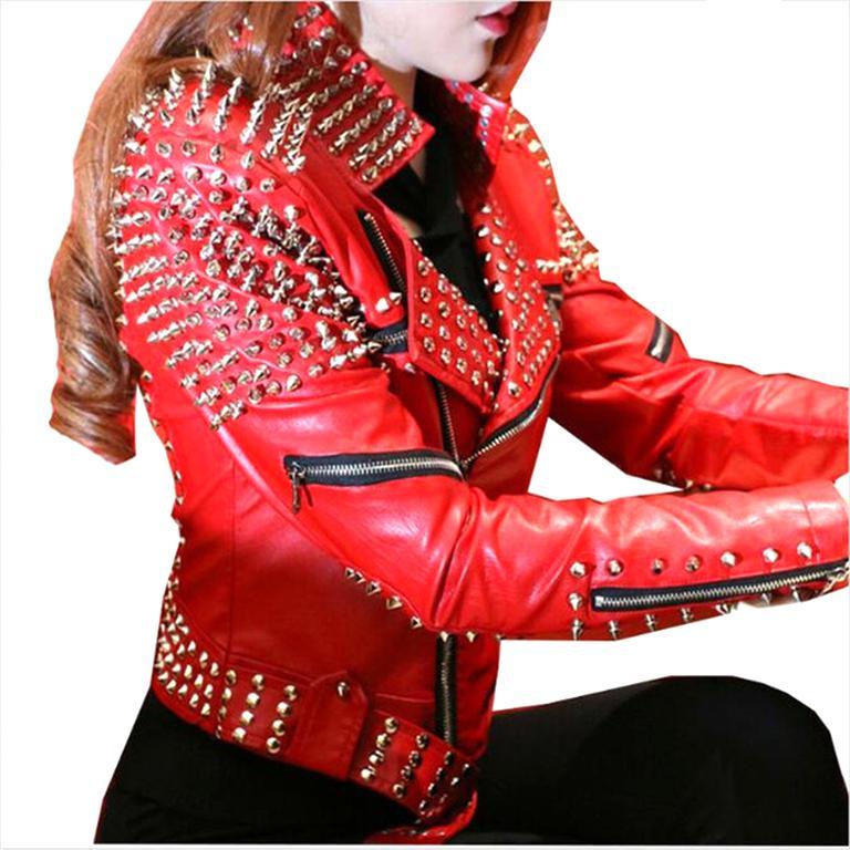 punk jacket cuir d'occasion