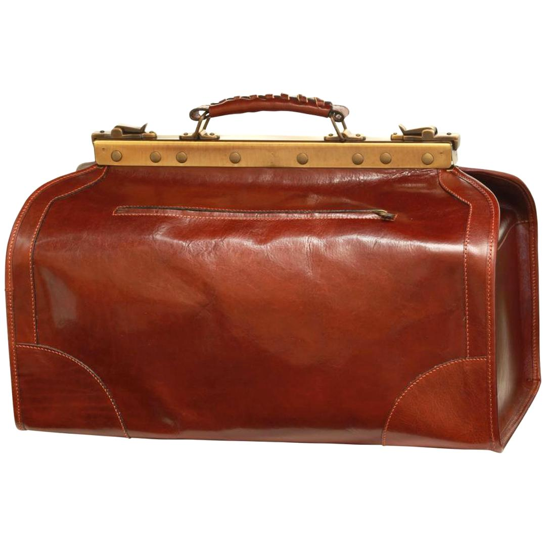 sac diligence cuir ancien d'occasion