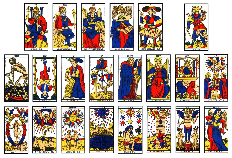 carte tarot de marseille Carte Divination Ancien Tarot De MARSEILLE GRIMAUD