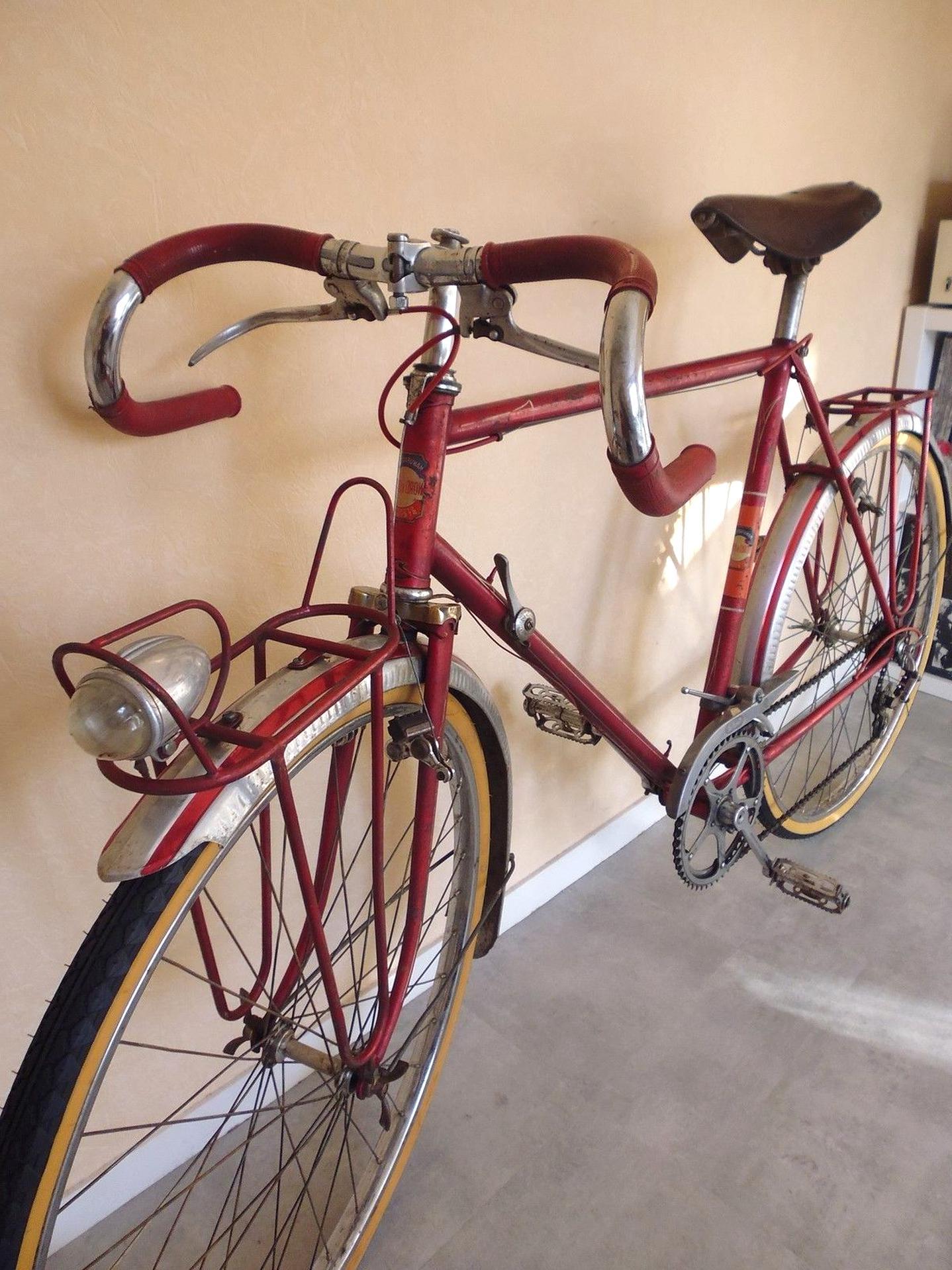 NOS 2 Tresse Velo Guidoplast VIOLET Tissus Randonneuse Herse Singer Vintage Bike