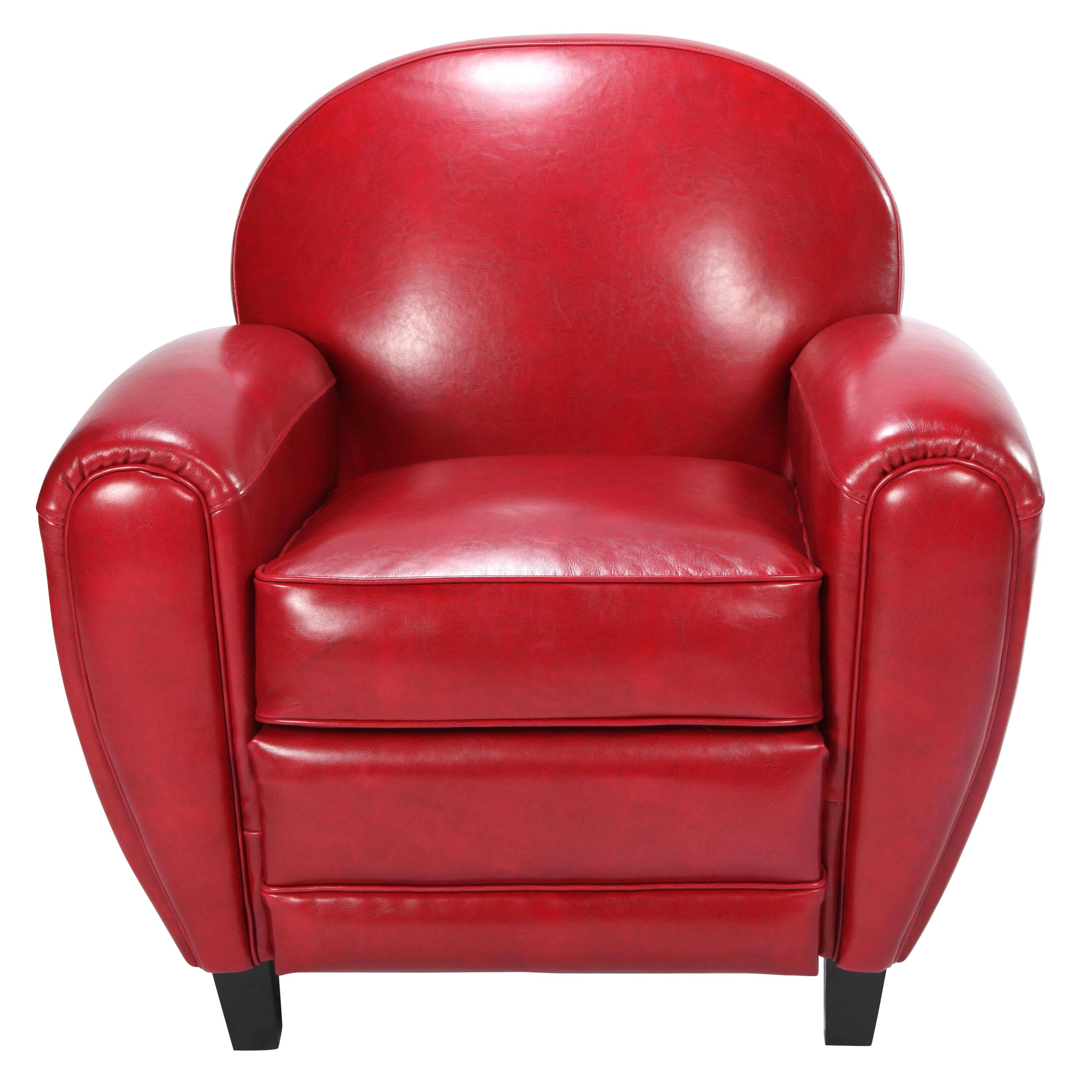 Fauteuil Club Cuir Rouge D Occasion